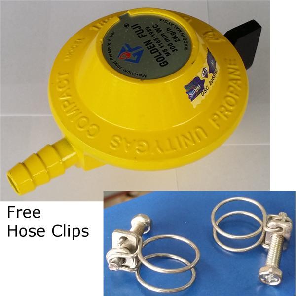 Golden Fuji Gas Regulator Cooker Connector Sirim Free Hose Clips