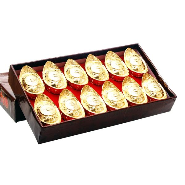 Golden Medium Ingots - 12pcs per set