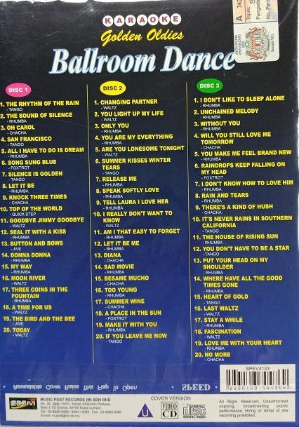 Golden Oldies Ballroom Dance Karaoke 3VCD