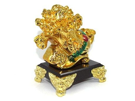 Golden Pak Choy with Ruyi and Coins for Hundred Kinds of Good Fortune
