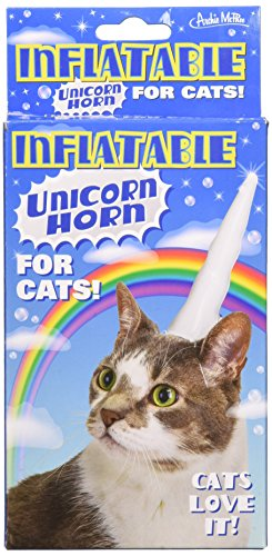 [Good Choice]Accoutrements Inflatable Unicorn Horn for Cats