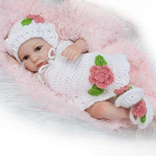 [Good Choice]NPK Newborn Reborn Baby Doll Girl Realistic 10Inch Mini Full Sili