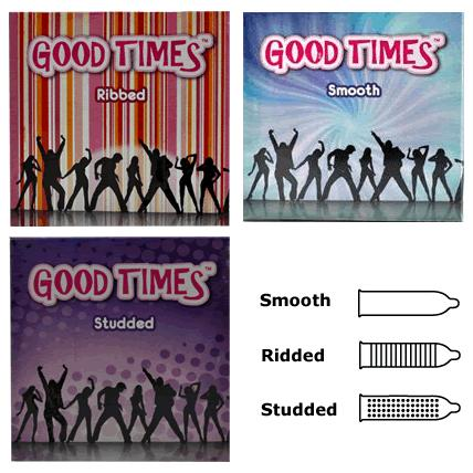 GOOD TIMES 3 IN 1 CONDOM (Kondom)- 9'S