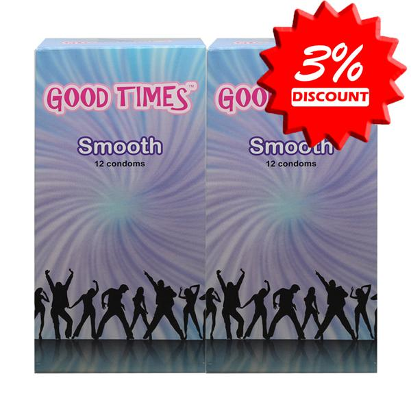 Good Times Smooth Condom / Kondom - 12's