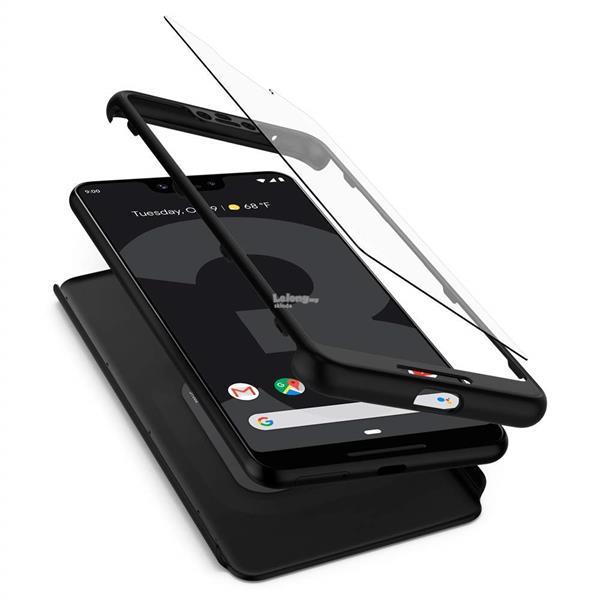 huge discount 6adde b0be5 Google Pixel 3 / Pixel 3XL - Spigen Thin Fit 360 Case & Tempered Glass