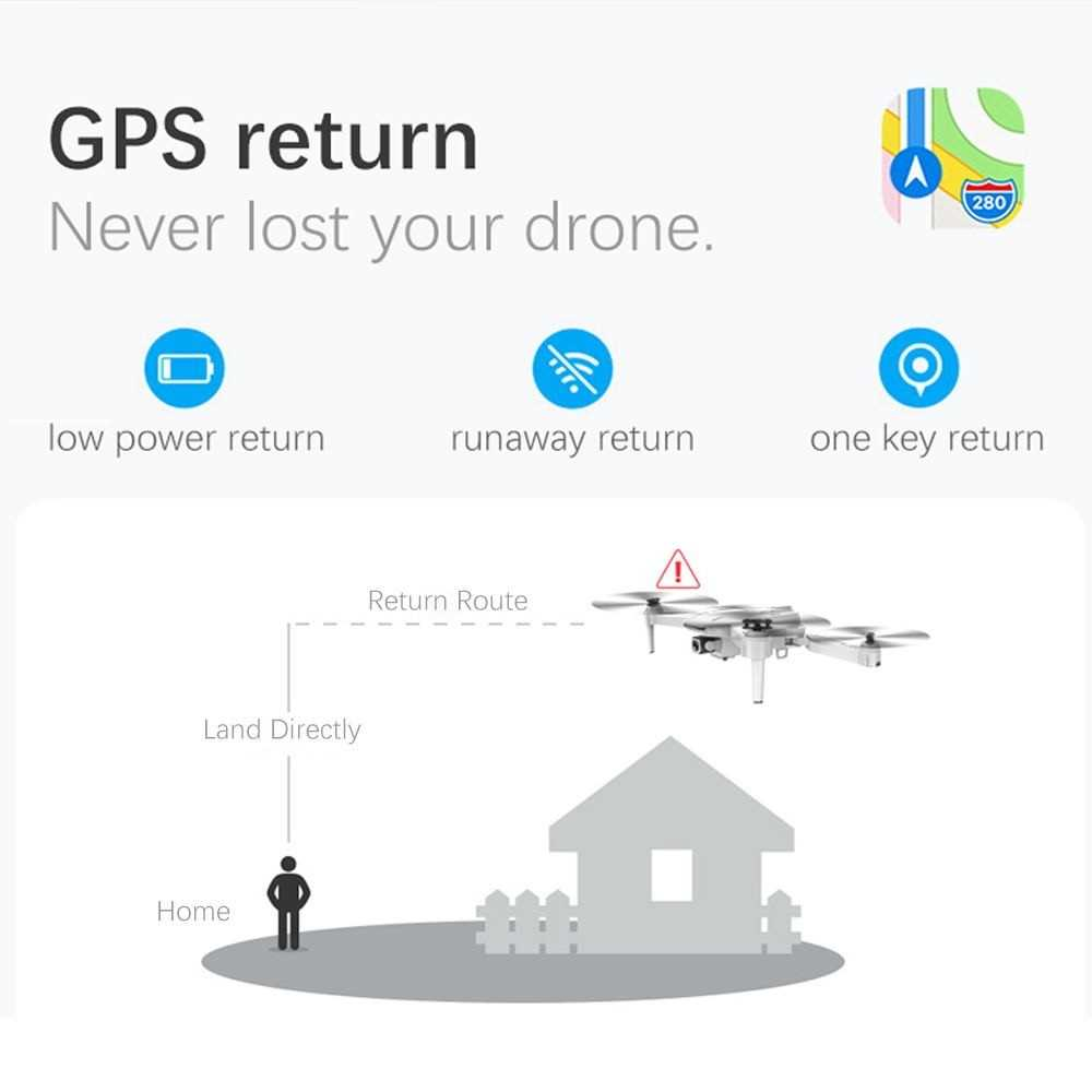GoolRC S162 RC Drone with Camera GPS Adjustable Wide Angle 4K WIFI Gesture Pho