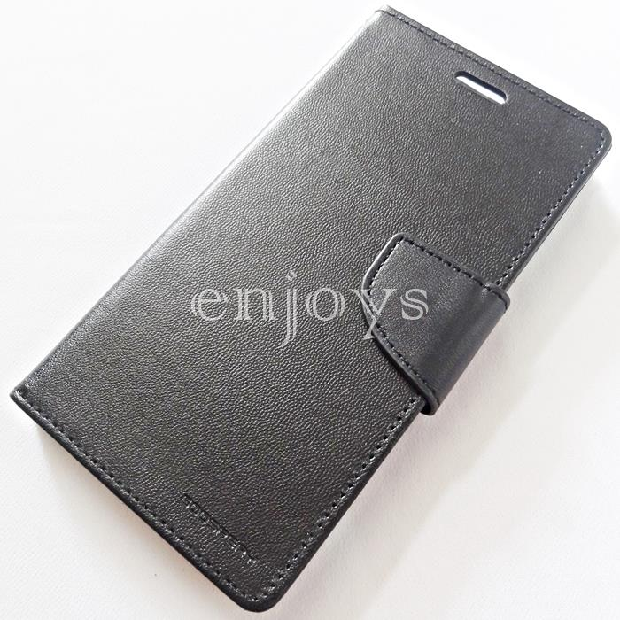GOOSPERY BRAVO Diary Case Flip Cover for Oppo R9s (5.5) ~BLACK *XPD
