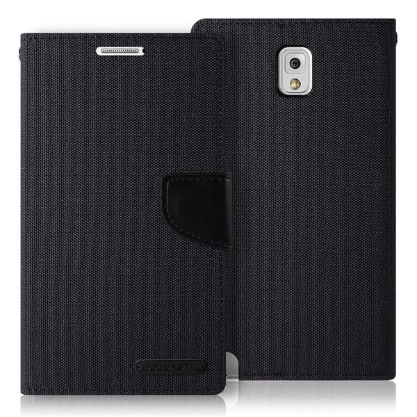GOOSPERY CANVAS DIARY SAMSUNG GALAXY NOTE 4 N910 - BLACK