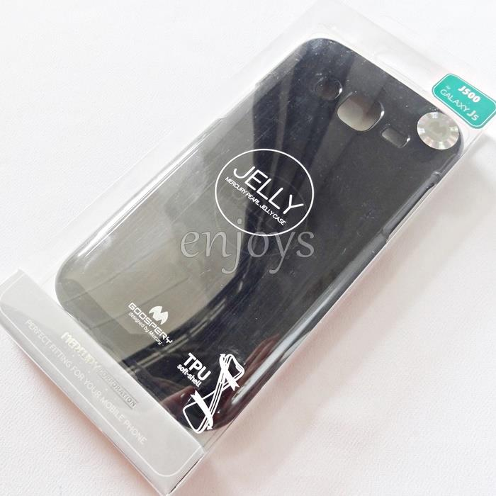 GOOSPERY Pearl Jelly TPU Case Cover Samsung Galaxy J5 /J500G *BLACK