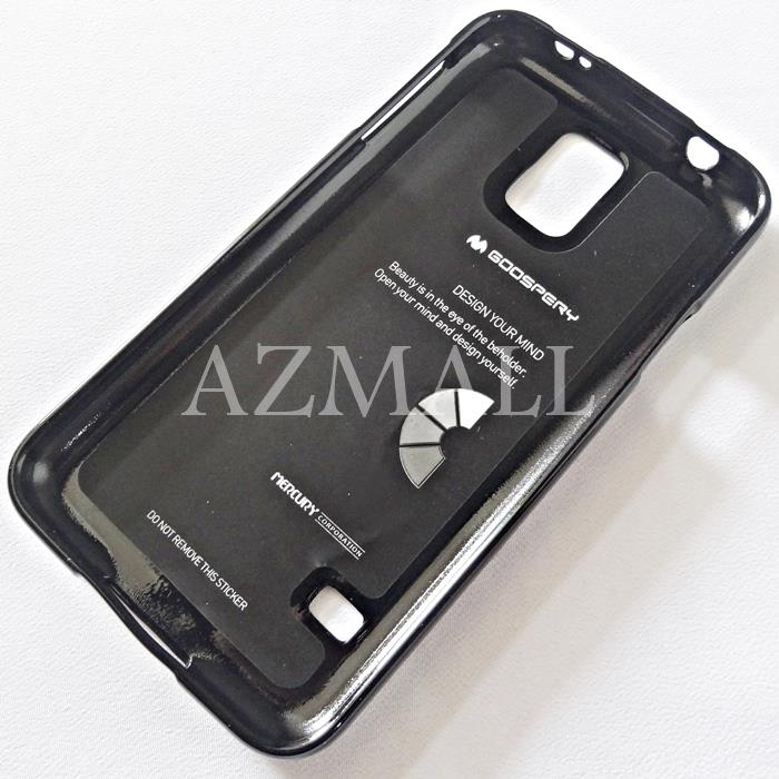 GOOSPERY Pearl Jelly TPU Back Case Cover Samsung Galaxy S5 /G900F *BLK