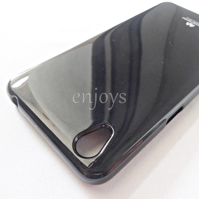 GOOSPERY Pearl Jelly TPU Back Soft Case Cover for Oppo A37 (5.0) BLACK