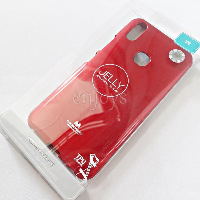 super popular 83855 67231 GOOSPERY Pearl Jelly TPU Back Soft Case Cover for vivo V9 (6.3