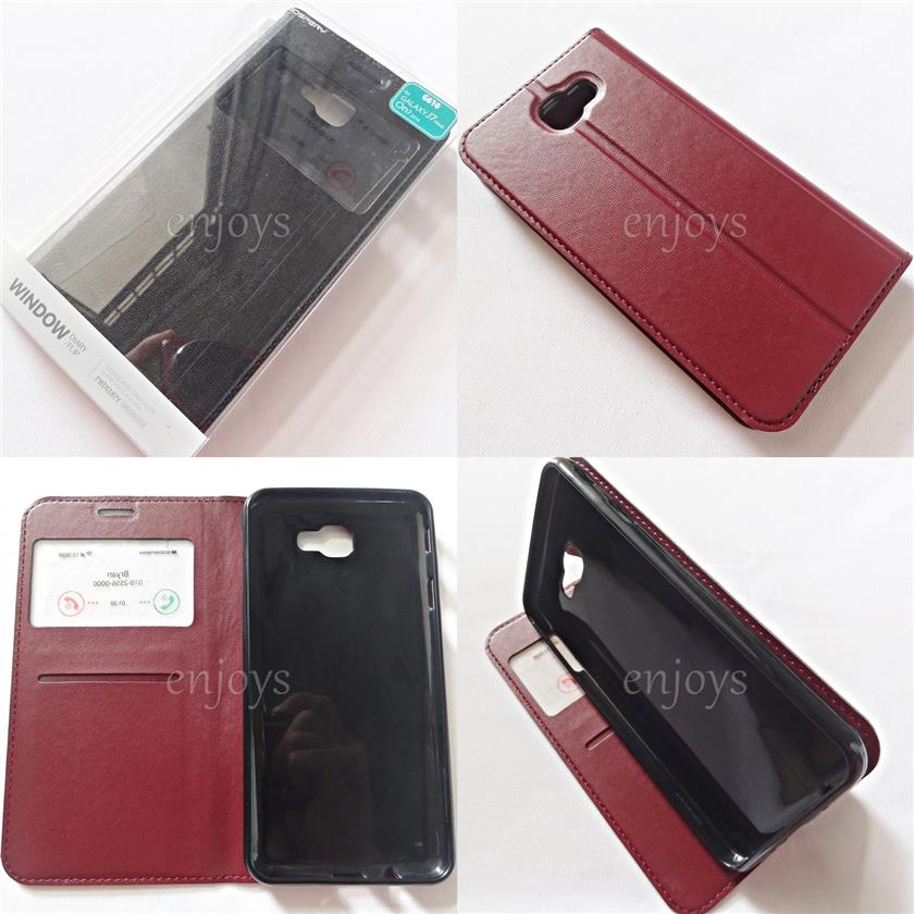 GOOSPERY WINDOW Diary Case Flip Cover Samsung Galaxy J7 Prime / G610F