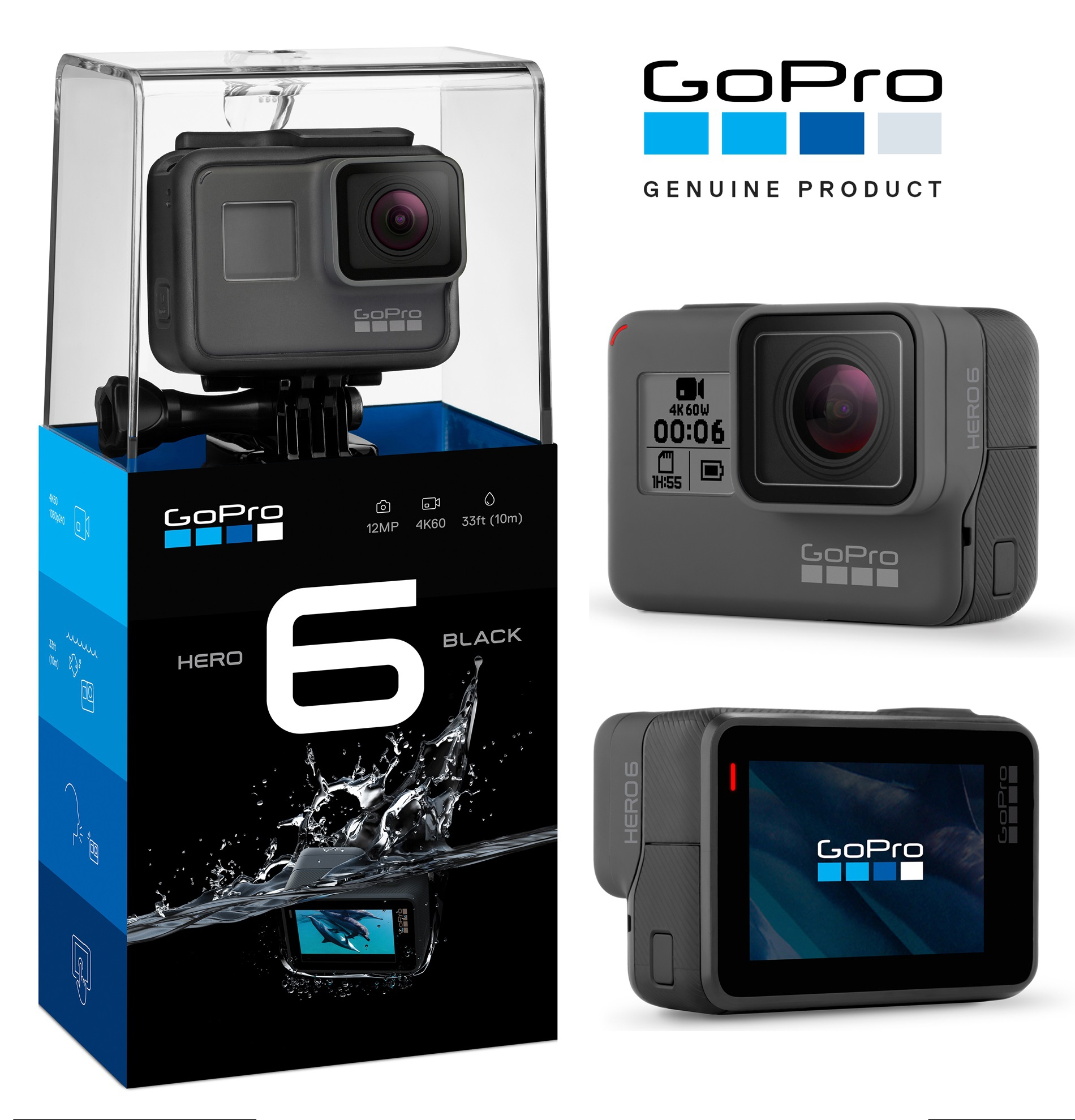 gopro hero 6 black hero6 black wa end 6 12 2020 11 55 am. Black Bedroom Furniture Sets. Home Design Ideas