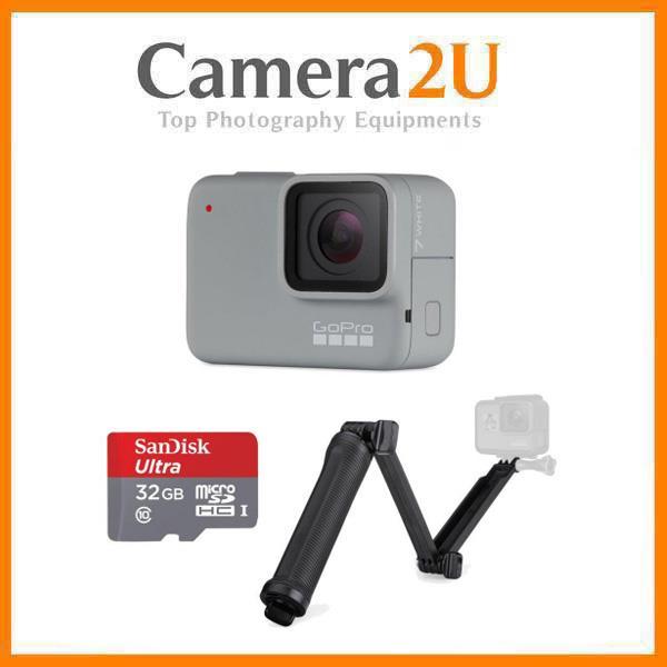GoPro HERO7 White Action Camera Hero 7 + 32GB + 3way Tripod