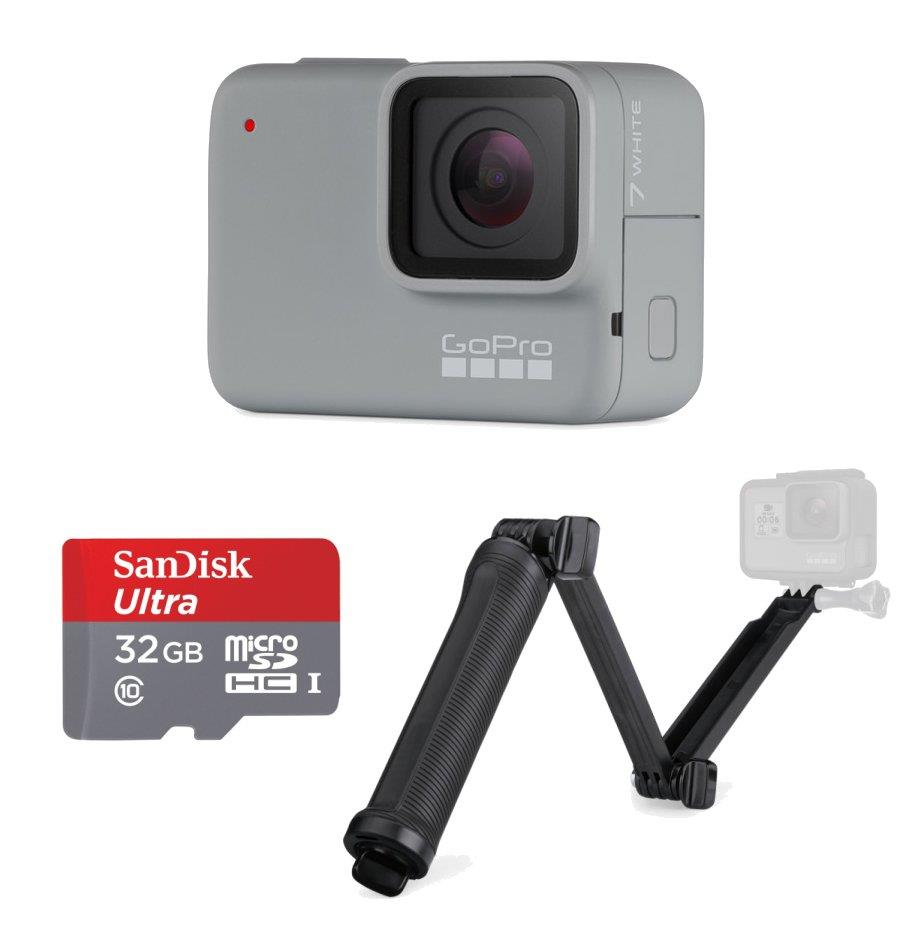 GoPro HERO7 White Action Camera Hero 7 + 32GB + 3way Tripod