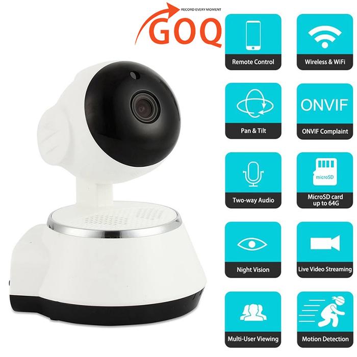 GOQ Q6 IP Security Camera 720P HD Wifi Cam CCTV Night Vision V380