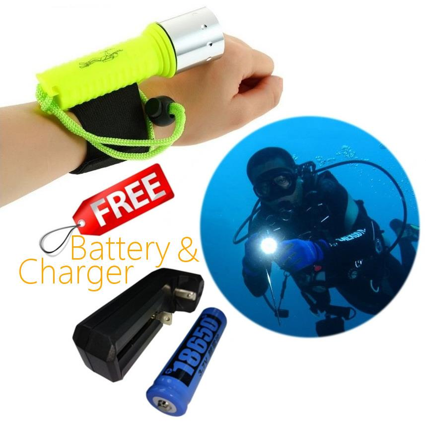 Goread C42 Scuba Diving LED Light 2100 Lumens 3 layers waterproof ring