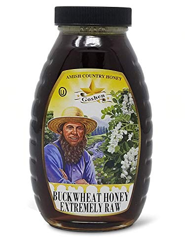 Goshen Amish Country Local Domestic Buckwheat Honey Extremely Raw with Live En