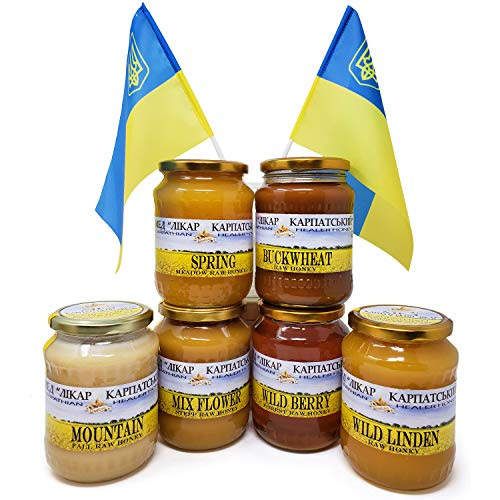 Goshen Honey Amish Extremely Raw Carpathian Pure BUCKWHEAT Honey 100% Organica