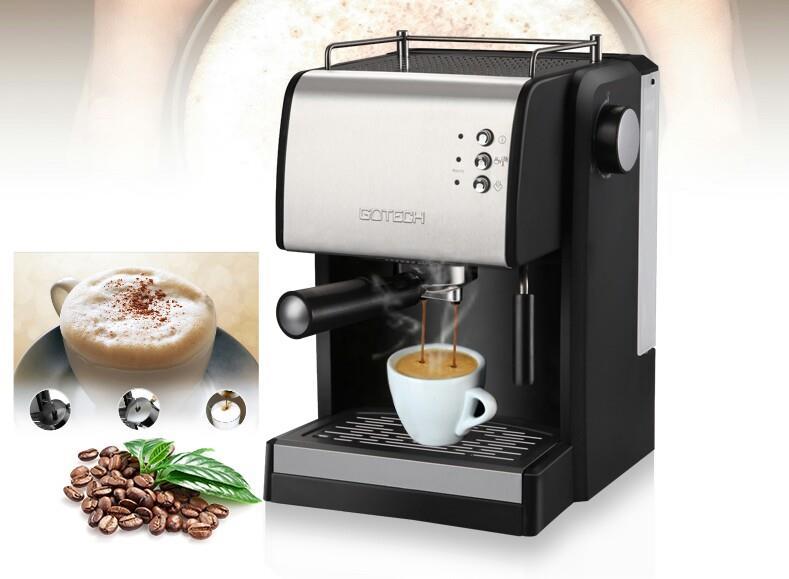Gotech Coffee Machine Espresso Maker 15 Bar Semi Free Grinder