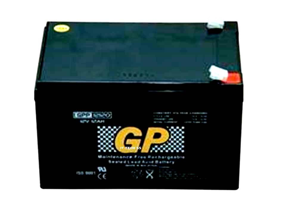 GP 12V 12AH DC Rechargeable Sealed Lead Acid Battery For SCOOTER