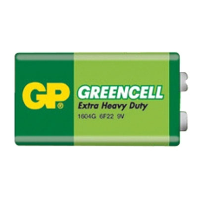 GP Greencell 9V Battery Extra Heavy Duty (1pc) GP Malaysia