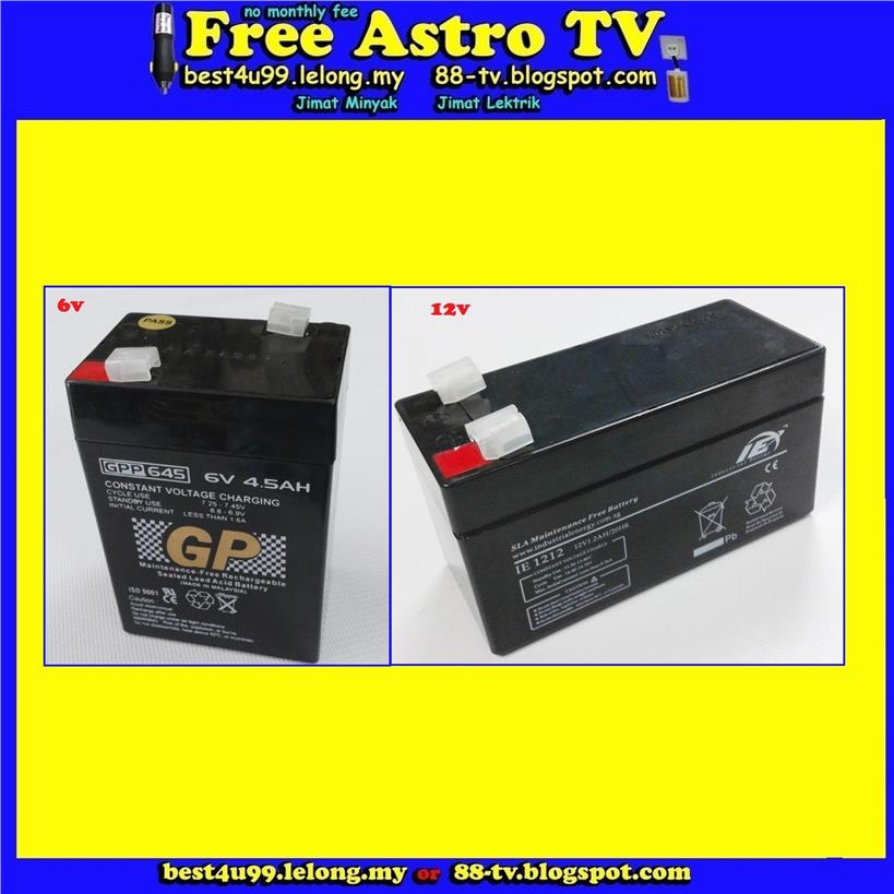 GP Rechargeable Sealed Lead Acid Battery Power Backup Motorbike Bike A