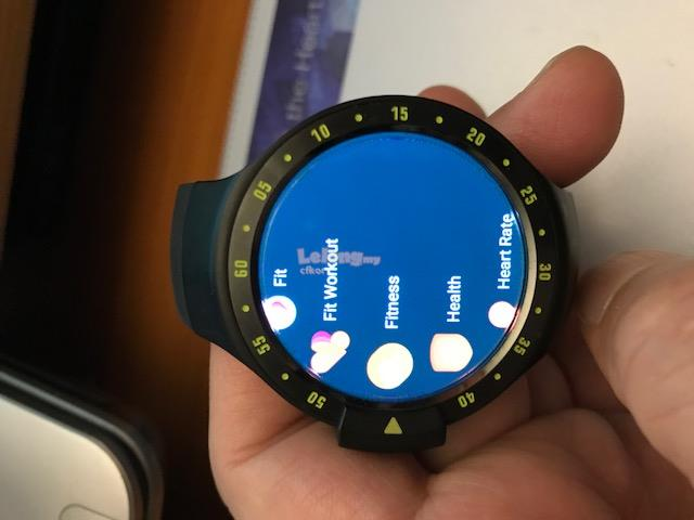 GPS &gt Heart Rate &gt Wear OS Google &gt Ticwatch Sport