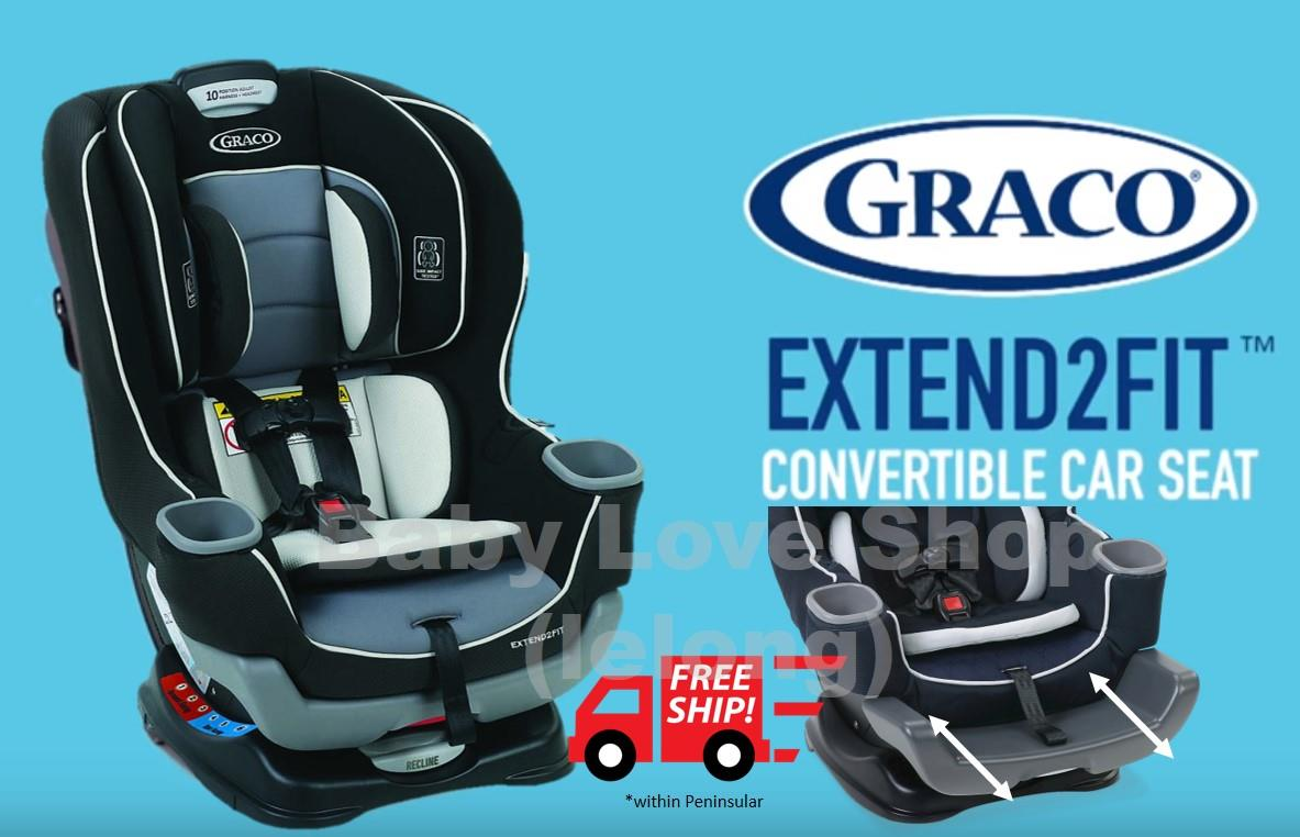 Graco Extend2Fit Convertible Car Seat With ISOFIX Latch System