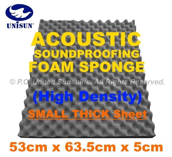 Grade A ACOUSTIC SoundProof FOAM SPONGE Small Thick Sheet 53 x 63.5cm