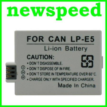 Grade A LP-E5 Rechargeable Li-Ion Battery for Canon EOS 500D 450D LPE5