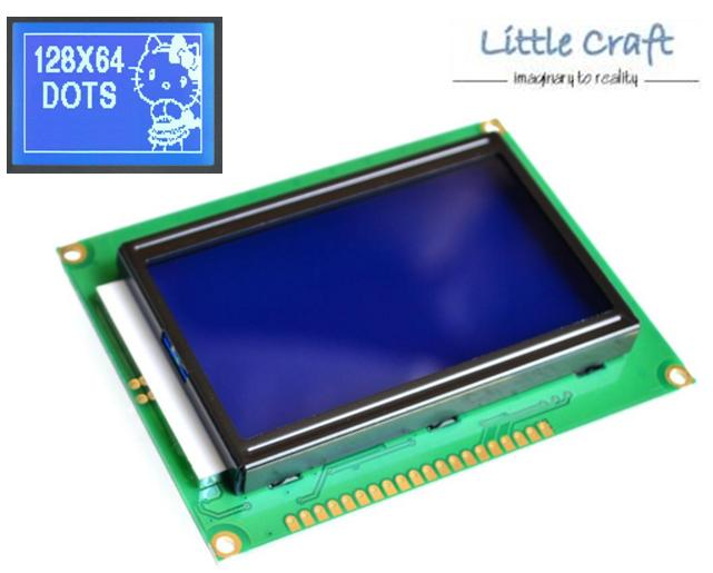 Graphic LCD Display 128x64 Blue Blacklight for Arduino, Respberry