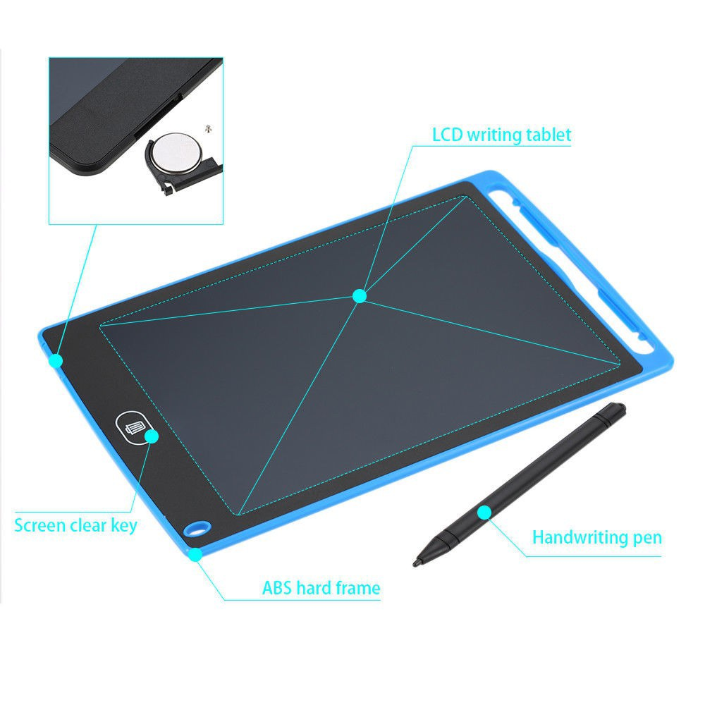 Graphics Tablet Electronics Drawing Tablet Smart Lc - [BLACK,8.5 INCH]