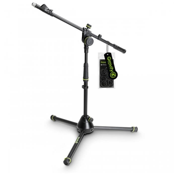 Gravity GMS4222B Short Microphone Stand with Folding Tripod Base & 2-P