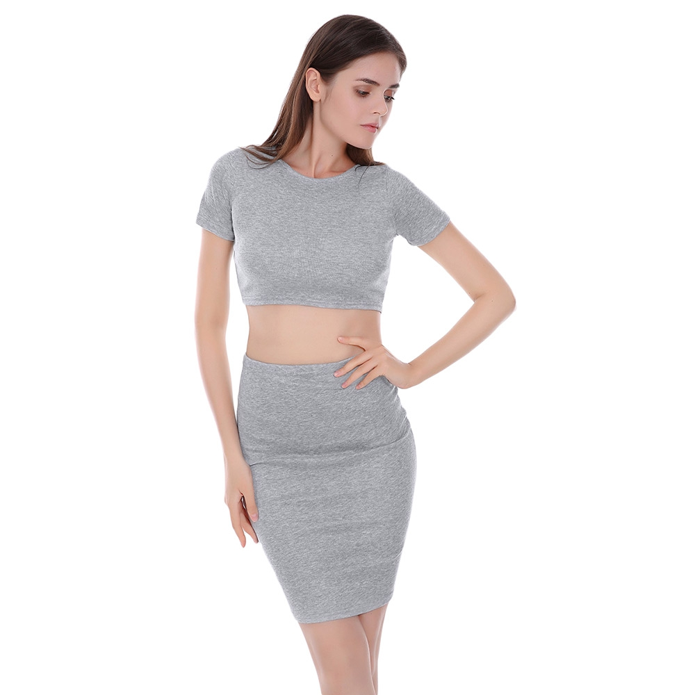 f07bf8aefd6 GRAY COTTON SHORT SLEEVE CROP TOP M (end 7/20/2020 12:10 PM)