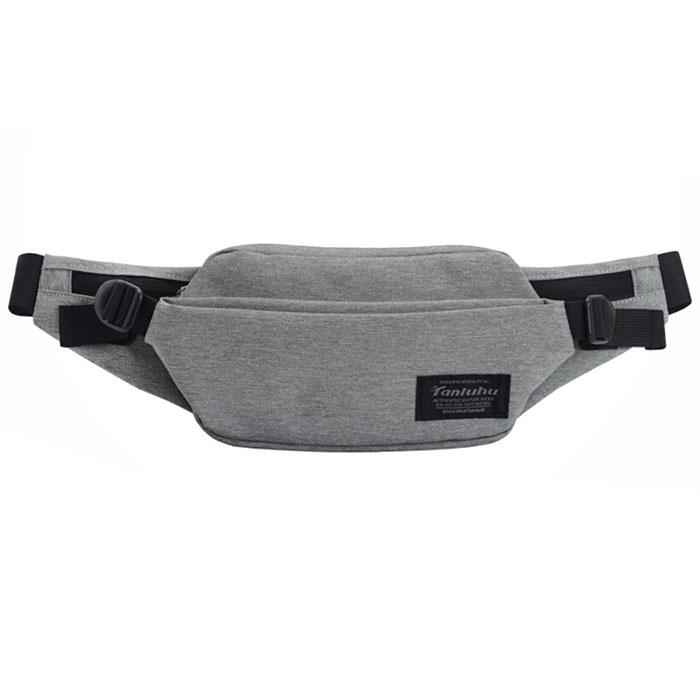 GRAY TANLUHU Men's Outdoor Close Fitting Multi-functional Waist Bag