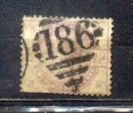 Great Britain  1883-84 QV  2.5 penny
