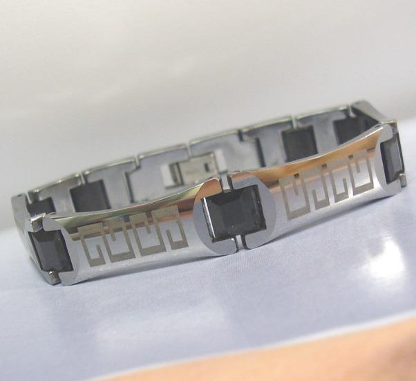 ~GREEK MAG TUNGSTEN Carbide Scratch Proof Magnetic Bracelet