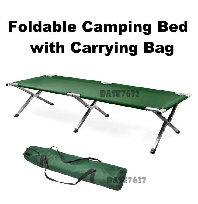 Green Foldable Folding Oxford Canvas Army Green Camping Camp Cot Bed