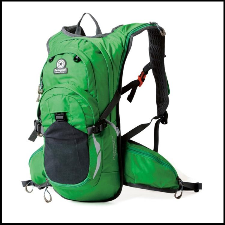 Green Hawk Pentagram Outdoor Travel Backpack - Free Water Pouch