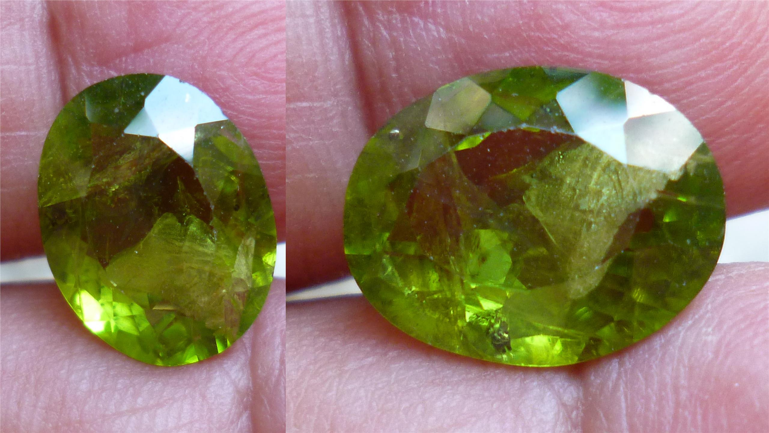 GREEN NATURAL PAKISTAN PERIDOT OVAL