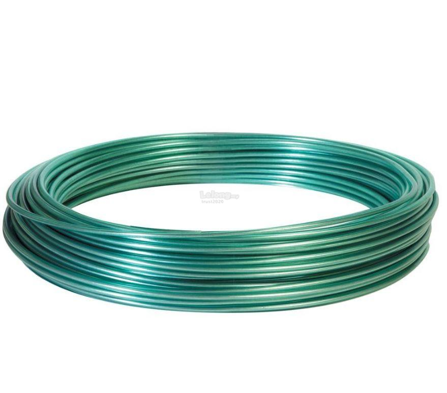 Green Plastic Coated Steel Wire for (end 9/18/2018 2:15 AM)