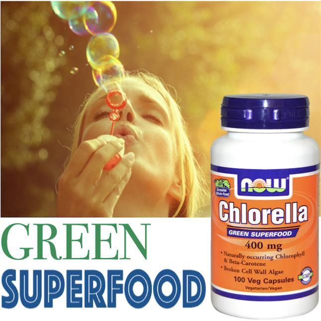 Green Superfood, Chlorella 400mgm, Chlorophyll, Beta Carotene, Algae