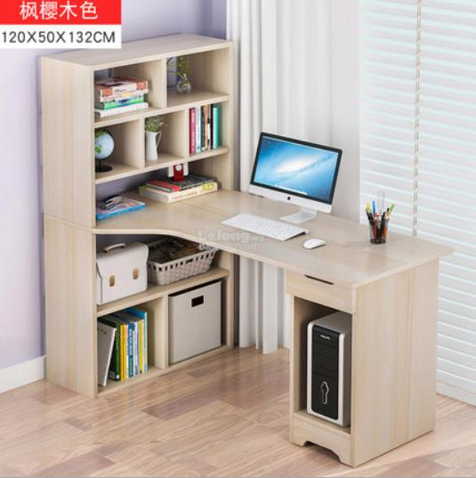 GREY Office Computer Laptop Desk Study Table Meja Book Home House