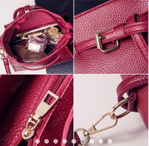 94eaae9b0e GRIMO 4 in 1 Shoulder Bag Set Sling Beg Handbag Women Bags Purse PU