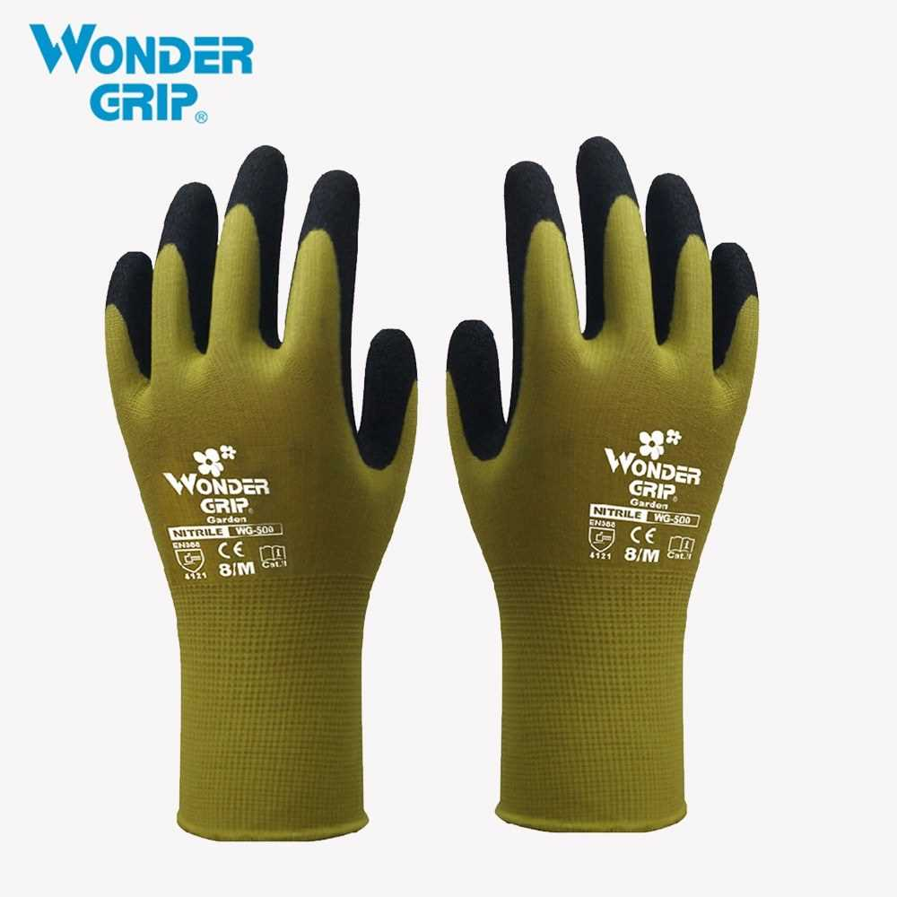 Wonder Grip Gardening Safety Glove Nylon With Nitrile Coated Work Glove Abrasi