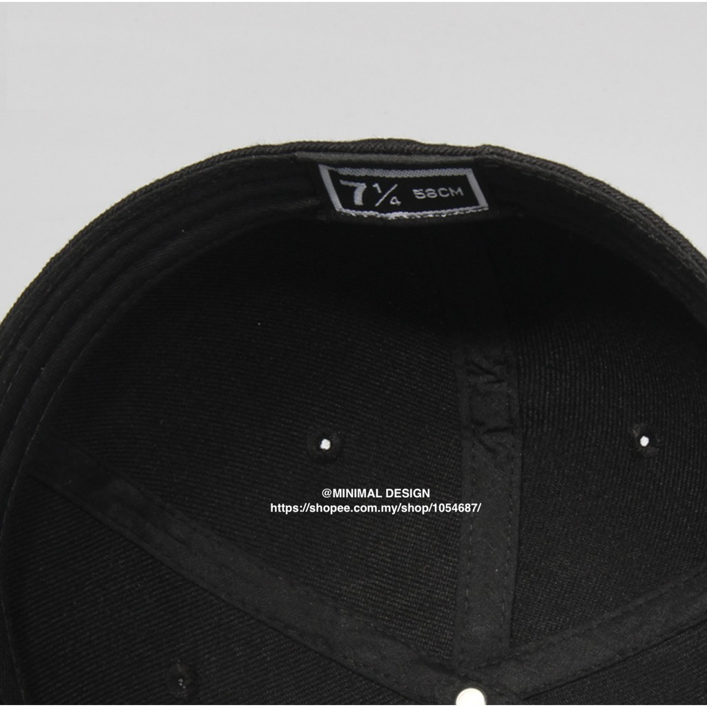 Group 1, Zx001, Full Cap Plain, Flat-brimmed, All Size - [BLACK,6-7/8]