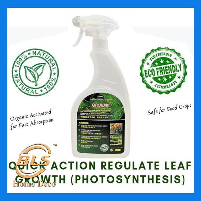 GROWAN 1000ML ORGANIC ACTIVATED ESSENTIAL NUTRIENTS FOR REGULATE LEAF