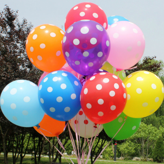 20pcs Polka Dots Balloons Party Wedding Birthday Christmas Event Decoration